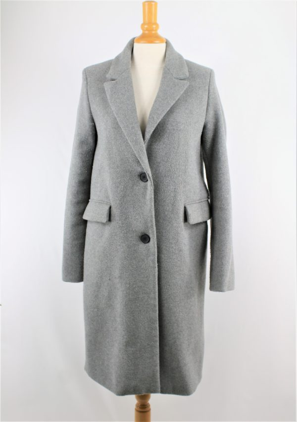 Manteau long gris bershka