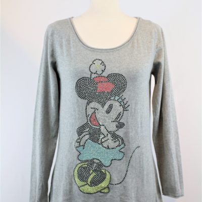 Pull disney motif minnie clouté
