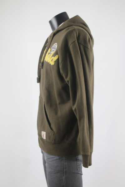 Sweat capuche zip marron taille 40 SPRINGFIELD