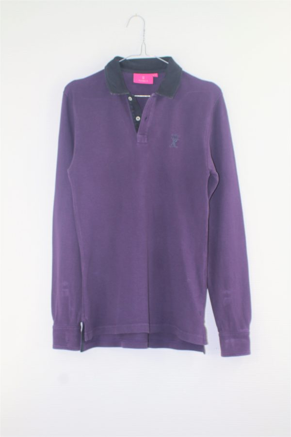 Polo manches longues violet VICOMPTE A XS