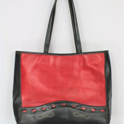 Sac cabas cuir synthétique rouge soco
