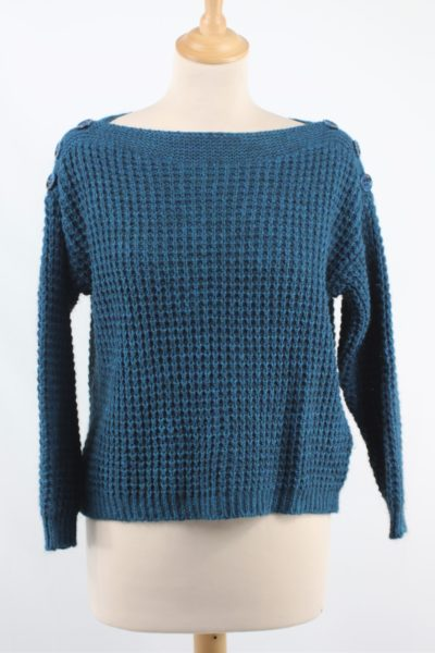 Pull court grosse maille cache cache