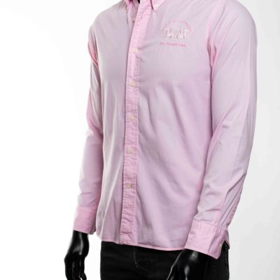 Chemise rose la martina taille S 3