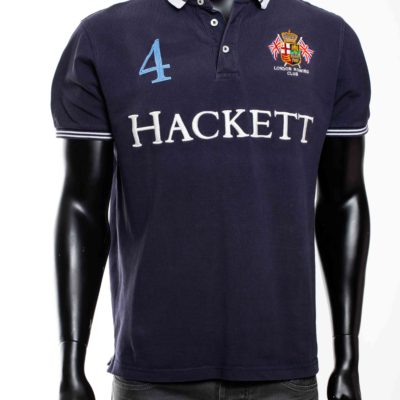 Polo bleu marine hackett london 3