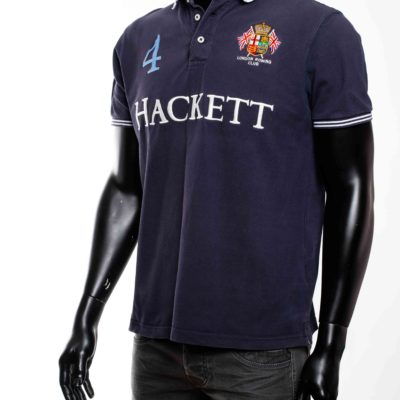 Polo bleu marine hackett london 4