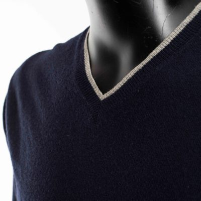 Pull bleu marine occasion laine HACKET LONDON