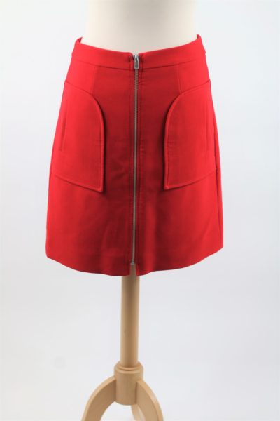 Jupe rouge style années 70 pas cher CAROLL