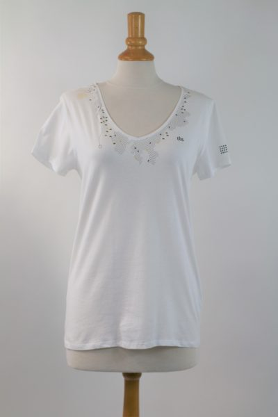 T-shirt blanc TBS taille 40-42