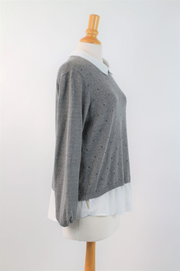 Pull avec col chemise pas cher taille 42