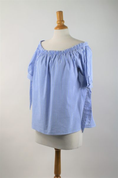 blouse seconde main rayée