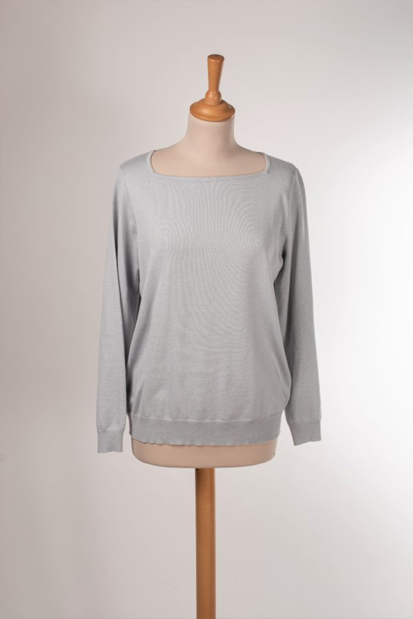 Pull gris fin femme pas cher Taille M