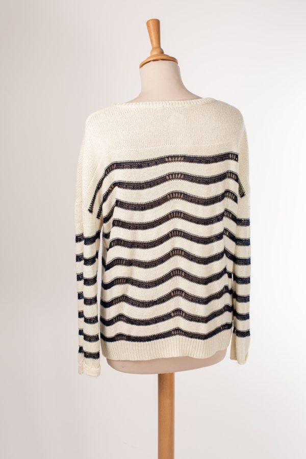 Pull maille à rayure style marinière